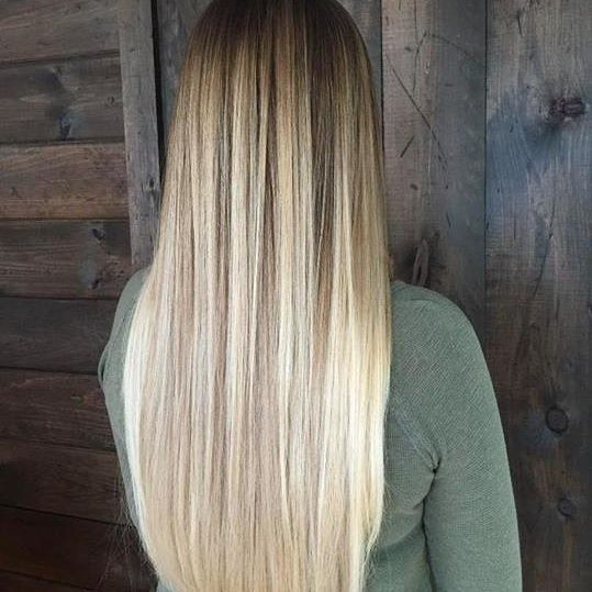 Amber Waves Of Grain Straight Blonde Balayage Ombre Regram Via