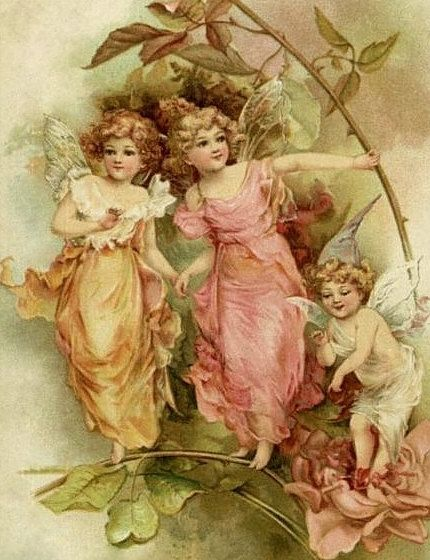 Victorian Fairies Downloadable Printable Digital Art by naturepoet, $4.50