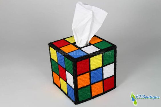 The ORIGINAL & BEST SELLING Rubik's Cube Tissue Box by L2Boutique
