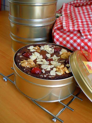Torta Negra venezolana. Hecha con pasas conservadas en ron, chocolate y nueces: