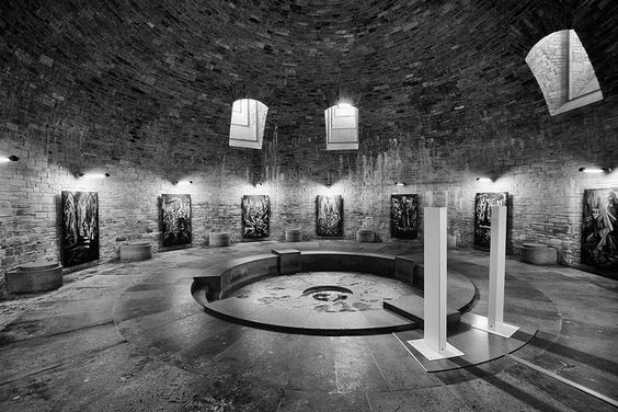 "Wewelsburg 2013. The crypt in the north tower the Wewelburg is part of the exhibition ""Ideologie und Terror der SS"".:"