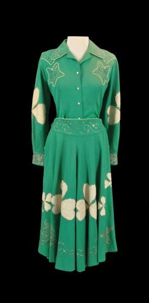 Dale Evans&39 Nudies Shamrock Dress Suit vintage western wear ...