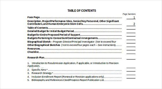 20 Table Of Contents Template Check More At Https Moussyusa Com