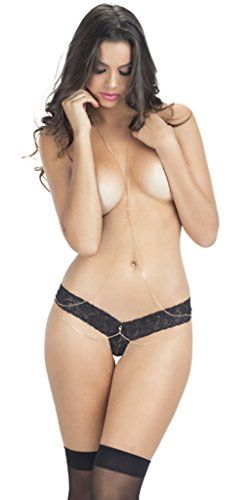 Grey's Girl Sexy Sheer Lace Tanga with Draping Body Chain Details - Black/Gold - One Size Fits Most Musotica http://www.amazon.com/dp/B017IT5294/ref=cm_sw_r_pi_dp_u5rowb0MAEMK8