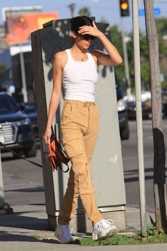 Kendall Jenner's All White Crop Top