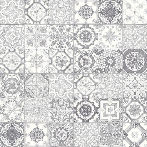 Marrakesh Grey Mix Hd Matte Porcelain 8x8 Ceramique Plancher