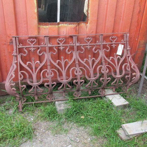Art Nouveau Cast Iron Balcony Rail   Ohmega Salvage