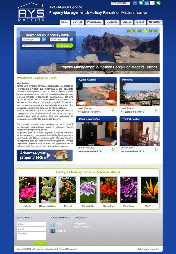 AYS Madeira - Aluguer de Férias projecto web desenvolvido pela Navega Bem Web Design - Madeira  http://www.ays-madeira.com/