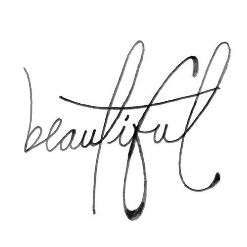 Home design positive vibes only - The Word Beautiful In Cursive Beautiful Cursive