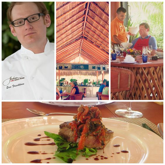 Chef Eric Frischkorn cooked Grilled Filet w/Caponata & Saba.  JFW Culinary Series by Karisma. Venue: Tucanes Bar