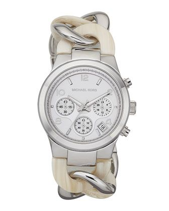 Michael Kors Runway Twist Watch, Safari Print.