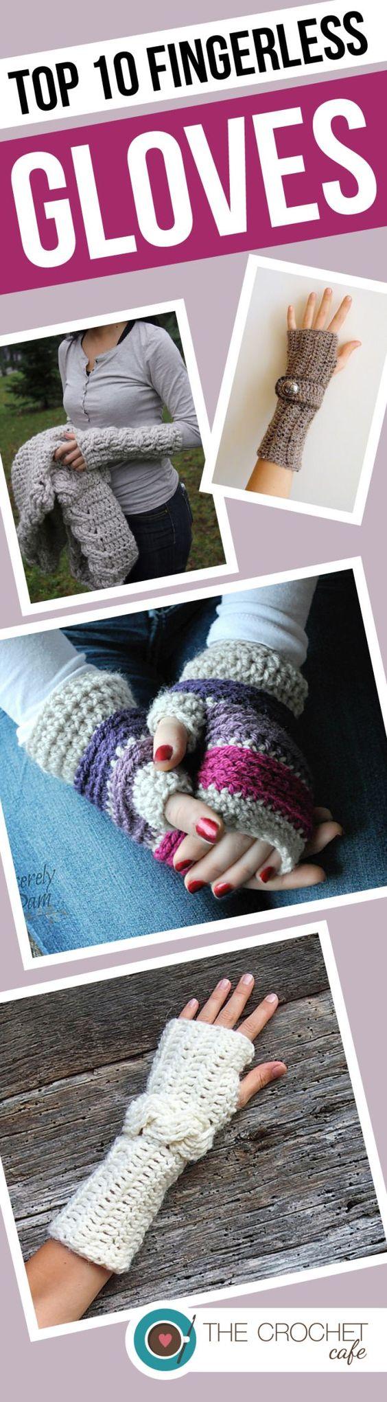 Roundup Of 10 Crochet Patterns For Fingerless Gloves And