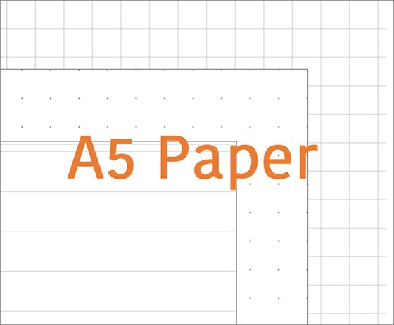 Free Printable A5 Paper 6 Hole Dotted Grid Ruled Refills For Filofax A5 Binder A5 Printables Leather Card Wallet Pattern Leather Craft Patterns