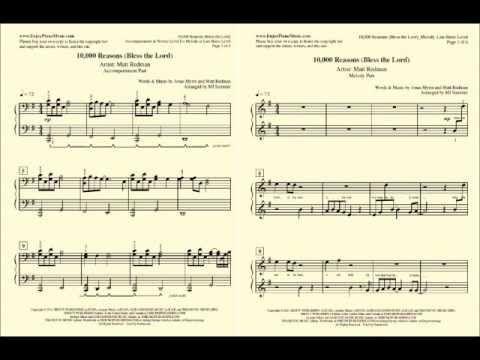 10000 Reasons Matt Redman Sheet Music For Beginners 10000