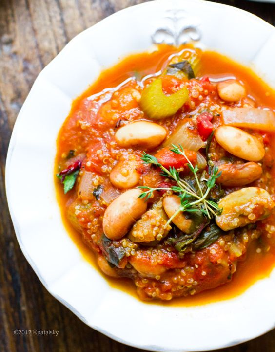 Snow Cap Bean Stew. Quinoa. Veggies. Herbs. - Healthy. Happy. Life.