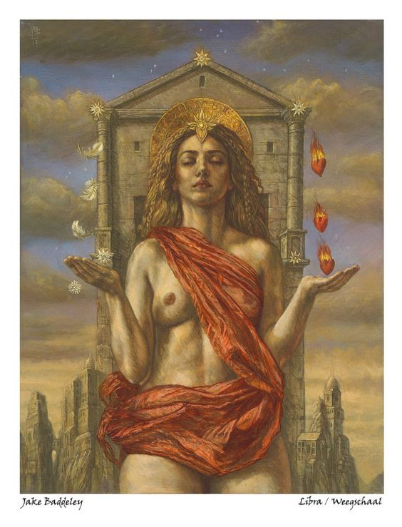 Libra - limited edition fine art print from the zodiac series by Jake Baddeley by thresholdeditions. Explore more products on http://thresholdeditions.etsy.com: