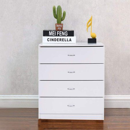 4 Chest Of Drawers For Bedroom Heavy Duty Wood 4 Drawer Dresser Modern Storage Bedroom Chest For Kids Room White Vertical Storage Cabinet For Bathroom Close In 2020 Modern Bedroom Storage Vertical