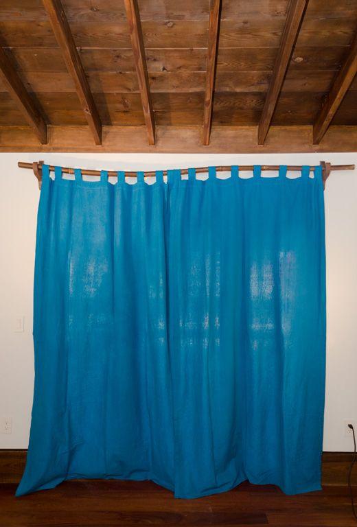 Barras de cortina, Bambú and Cortinas on Pinterest