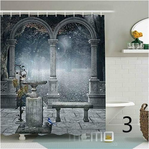 Wizard Shower Curtain Famous Train Station Print for Bathroom