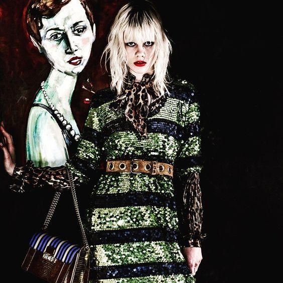 Disco vibes for @lanvinofficial #resort2016 #fwpress #fwpinsider #fwpwebsite #LANVINResort16 (link on bio) http://www.fashionwirepress.com/collections/2016/fashion-shows/resort/