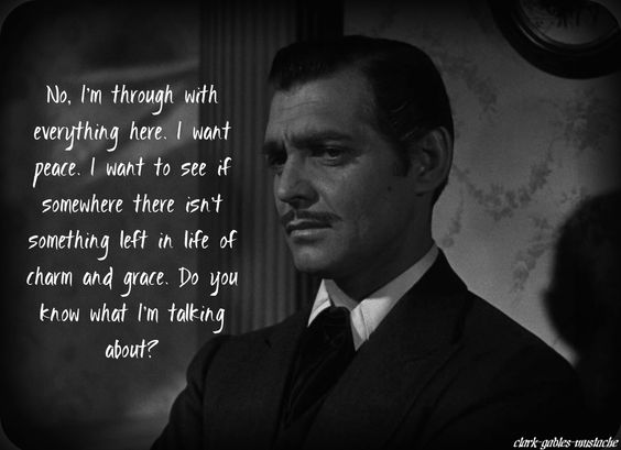 margaret mitchell's gift to the world - these last few lines from rhett butler