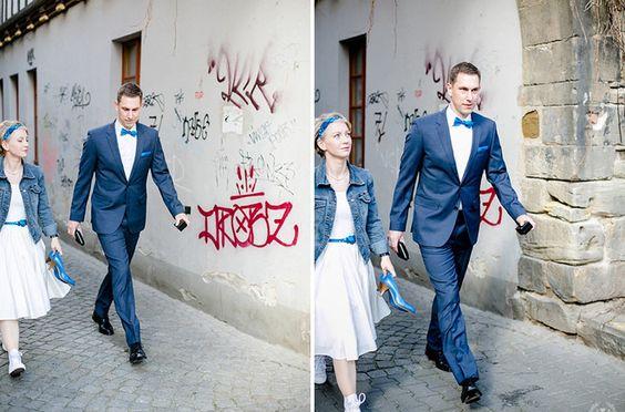 noni - lässige Braut mit Chucks zum rockabilly Hochzeitskleid mit ...