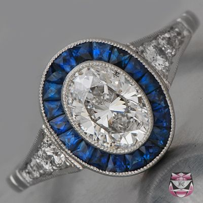 Sapphires & diamonds- doesn't get any better than this!.