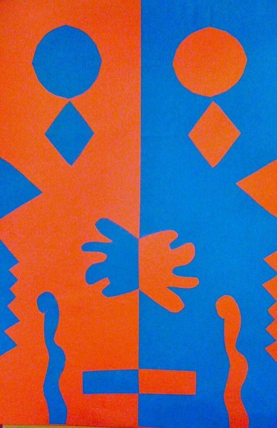 Kids Art Market: Positive and Negative space collage with Matisse