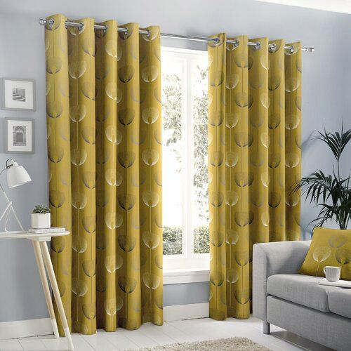 17 Stories Lorimer Eyelet Room Darkening Curtains In 2020 Room Darkening Curtains Curtains Drapes Curtains