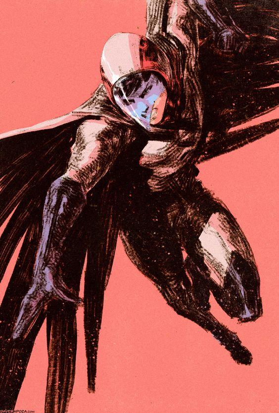 迫力のあるタッチで描かれた大鷲の健のかっこいい画像。