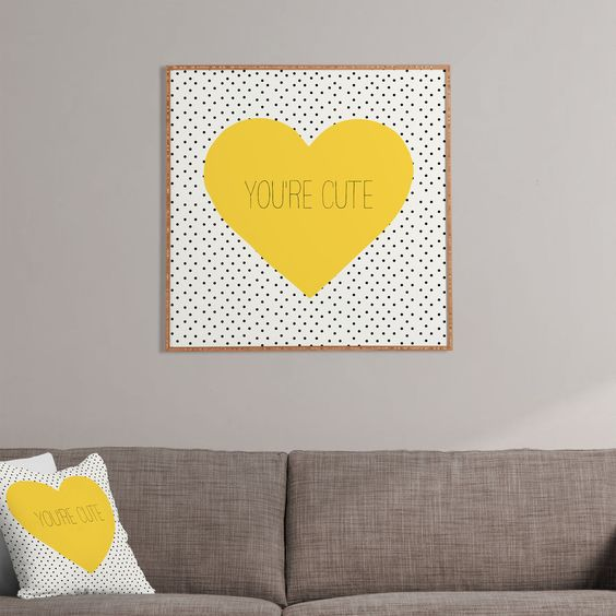 Allyson Johnson You Are Cute Framed Wall Art | DENY Designs Home Accessories #cute #love #sweetwords