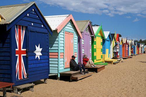 Bathing boxes, Brighton Beach, Melbourne