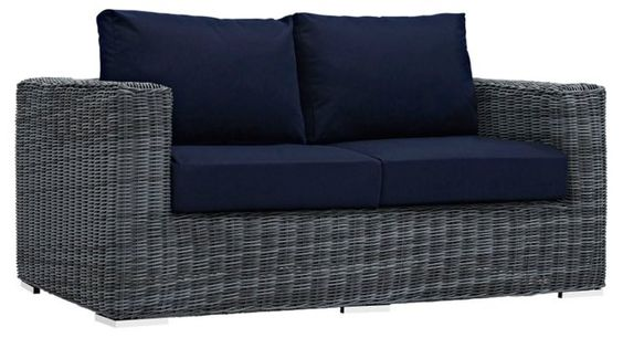 Freeport Loveseat, Navy
