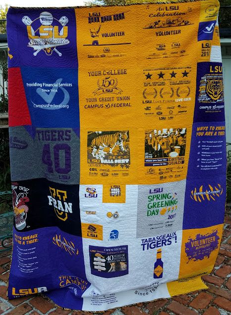 An LSU commissioned quilt for a retiree from her coworkers.