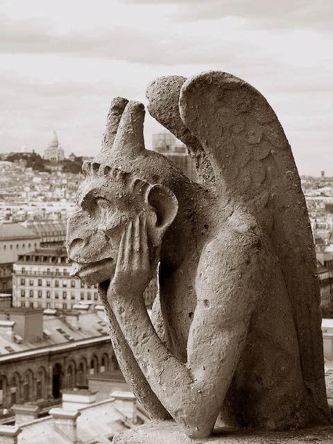 Gargouilles Notre Dame De Paris : gargouilles, notre, paris, Gargouille, Gargouille,, Notre, Paris, Cathédrale,, Cathedrale, Gothique
