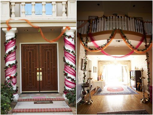 Small Details For An At Home Party! Indian Engagement Ceremony