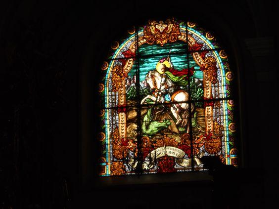 Vitraliu din Biserica Catolică, Sibiu, România