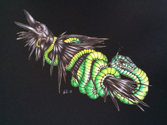 The Big Twist by Natalie Ioannou, A2 size, watercolour and ink.