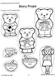 Goldilocks And The Three Bears Flannel Board Printables Galleryhip