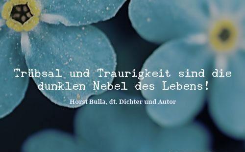 Trubsal Und Traurigkeit Sind Die Dunklen Nebel Des Lebens Zitat Horst Bulla Leben Dunkelheit Sehnsucht Nach Dir