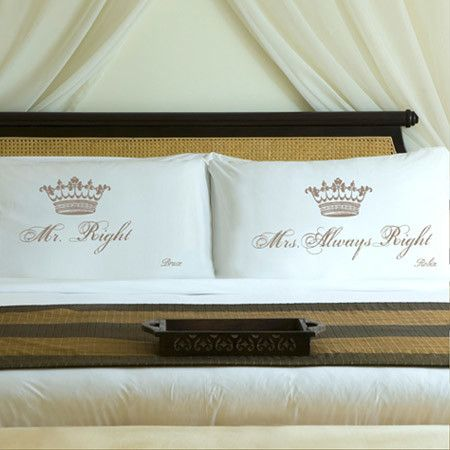 The perfect gift for the happy couple or cheeky addition to your bedding, these sateen pillowcases celebrate a well-balanced relationship.  ...