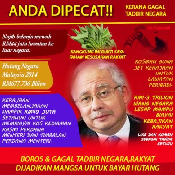 Najib Razak dinasihatkan kurangkan kadar rasuah dalam kabinetnya dalam tempoh 6 bulan ini sebelum meletakkan jawatan - Berita internet hangat!