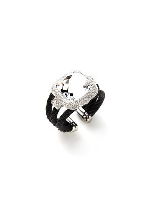 Charriol Crystal Triple Celtic Cable Ring