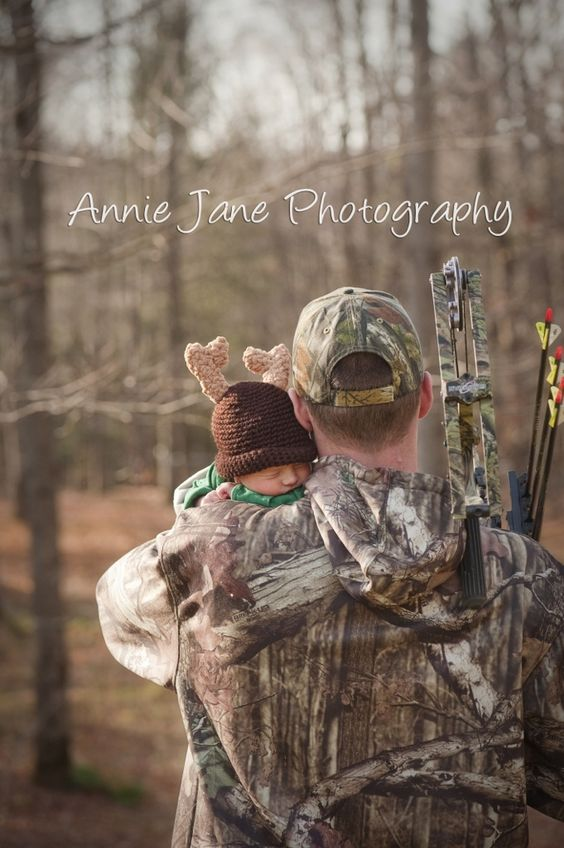 Add a pink bow on the hat and it'll be baby girl with daddy camo and bow