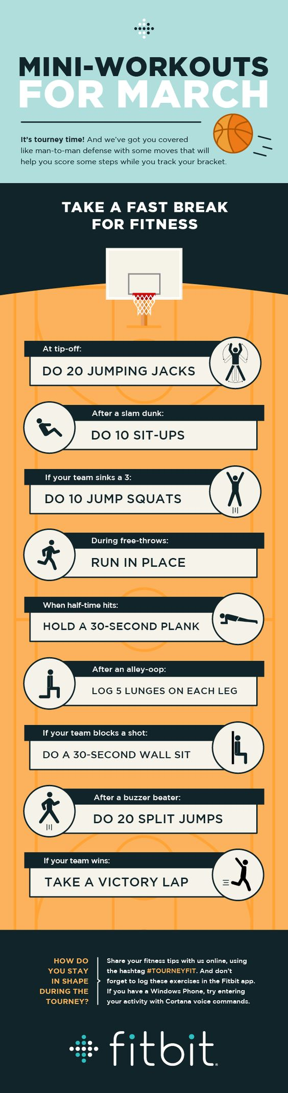 Workout while watching basketball... Or not watching basketball. Maybe just in those moments when all you can muster is 20 jumping jacks.