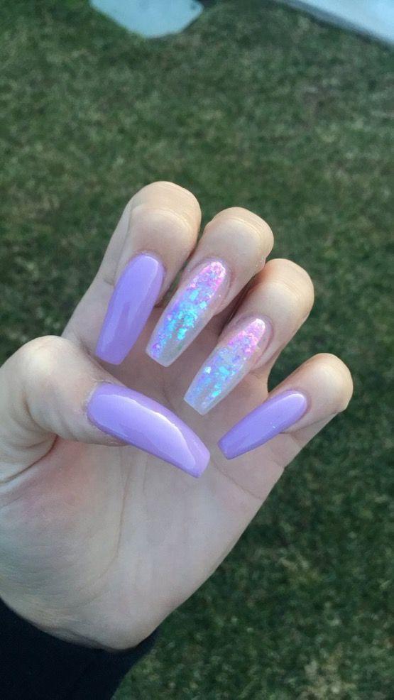 Cute Pink And Black Nail Art Nailideastrends Purple Acrylic Nails Purple Nails Nail Designs