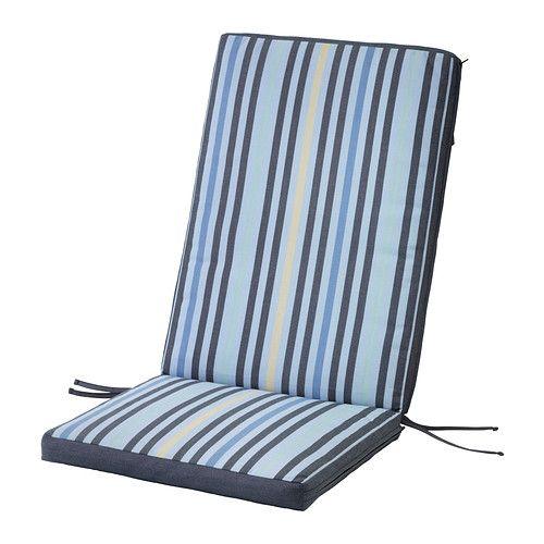 IKEA - TÅSINGE, Sitz- und Rückenpolster/außen, blau, , Kissenbezug mit verschiedenen Mustern auf Ober- und Unterseite - so lässt sich der Sitzplatz im Handumdrehen umgestalten.Leicht sauberzuhalten, da der Bezug maschinenwaschbar ist.Bänder und eine Schlaufe verhindern das Verrutschen der Polster.