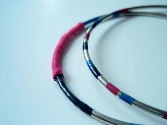 Nail polish and string bangles