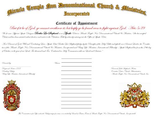 Ordination Certificates For Your Church Certificate Layout Create Invitations Diploma Design