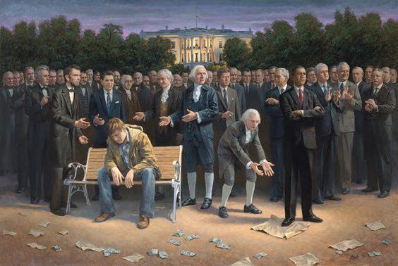 "perceptionasreality: Painting Presidents: Jon McNaughton ""The Via Dolorosa"", The Forgotten Man, Wake Up America"
